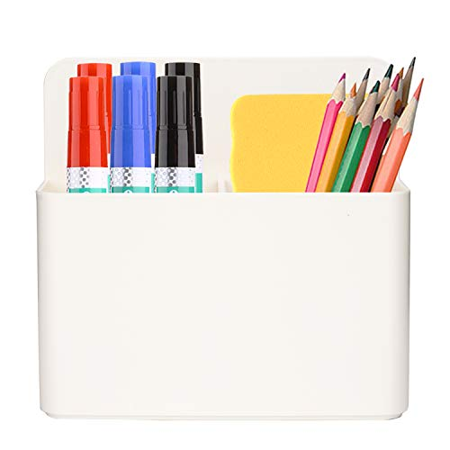 Magnetic Dry Erase Marker Holder, Magetic Pen Holder, AUYOUWEI Whiteboard Pen Holder Magnetic Dry Erase Markers Organizer With Powerful Neodymium Magnets - White