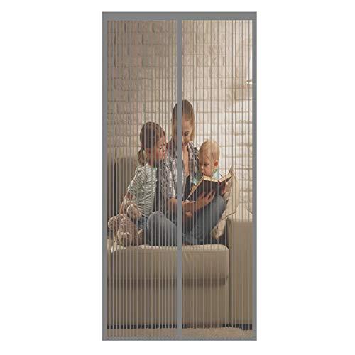 Magnet Vorhang 140x225cm Klebemontage Magnetvorhang Tür Insektenschutz für die Balkontür, Kellertür und...