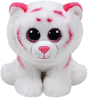TY Beanie Baby - TABOR the Pink & White Tiger (6 inch) -MWMTs Stuffed Animal Toy ^G#fbhre-h4 8rdsf-tg1380588