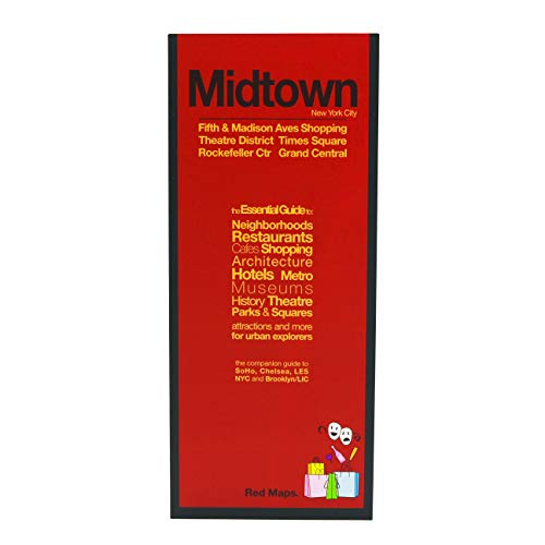 Red Maps MIDTOWN & TIMES SQUARE NYC Street Map and Shopping Guide