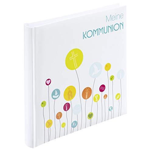 Hama Fotoalbum zur Kommunion, 25x25cm (Kommunionalbum, 50 weiße, leere Seiten, für max. 100 Fotos in 10x15, quadratisch) Gästebuch, Erinnerungsalbum bunt/weiß