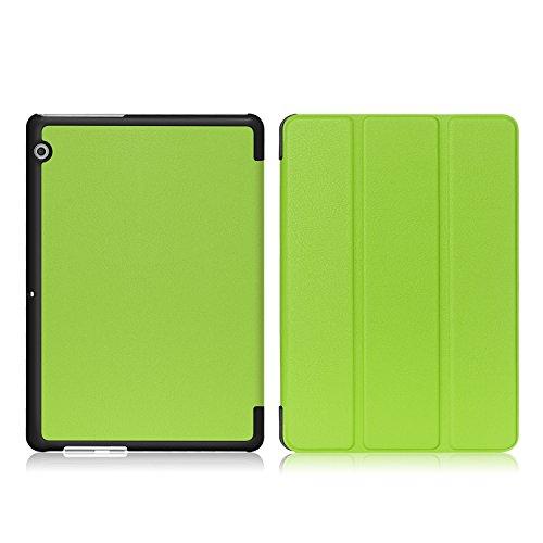 Xuanbeier Huawei MediaPad T3 10 Hülle Case-Ultra Dünn und Leicht PU Leder Schutzhülle Cover für Huawei MediaPad T3 10(9,6 Zoll)(Grün) - 5