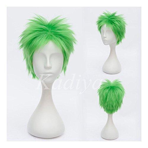 Kadiya Short Green Boy Cosplay Wig Heat Resistant Synthetic Hair 6b79d589db37