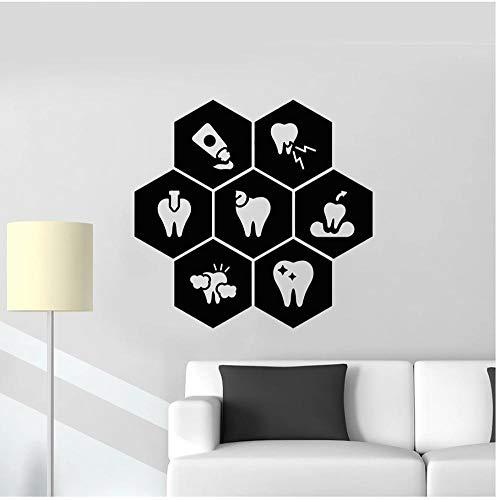 MUXIAND Muurstickers, tandpasta tandheelkundige zorg PVC DIY Art Home Decor Voor Kids Kamer Woonmuur Decal Verwijderbare Aangepaste Office Verjaardagscadeau 57x59cm