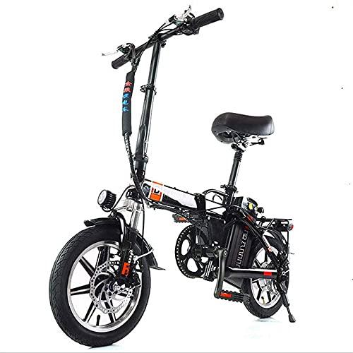 Ebikes, 48V 240W Motor de Alta Velocidad Motorizas eléctricas Aleación de magnesio Ebikes Bicicletas Terrain, 14'48V 10-20HAh Batería de Litio extraíble Mountain Ebike para Hombre para Adultos ZDWN