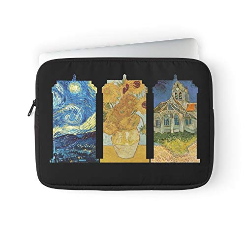 Doctor Van Silhouette Black Who Tardis Night Vincent Starry Gogh Laptop Sleeve Bag Compatible with MacBook Pro, MacBook Air, Notebook Computer, Water Repelle