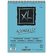 Álbum Espiral Microperforado, A4, 30 Hojas, Canson XL Aquarelle, Grano Fino 300g