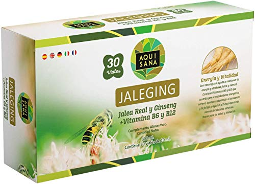 Jaleging Aquisana con Propóleo   Ginseng Rojo   Vitamina B6 y Vitamina B12   Más Energía y Refuerza- Alergenos: fructosa