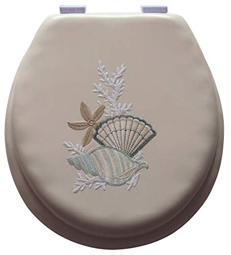 UNIWARE BT0711-17' Soft Embroidery Toilet Seat (Beige)