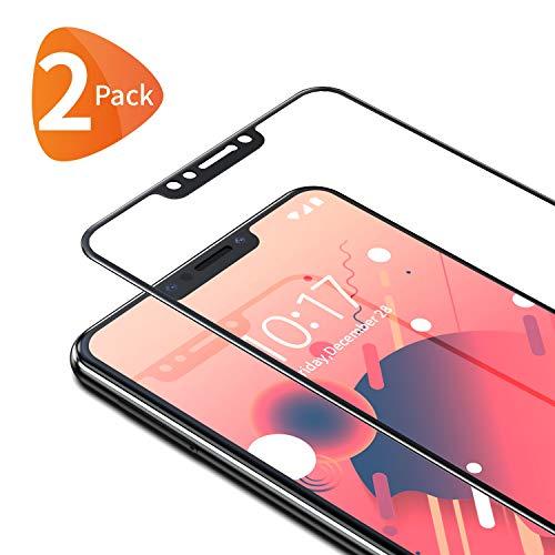 Bewahly Cristal Templado para Xiaomi Pocophone F1 [2 Piezas], Ultra Fino Completa Cobertura Protector Pantalla, 9H Dureza Alta Definicion Vidrio Templado Sin Burbujas para Xiaomi Pocophone F1 (Negro)