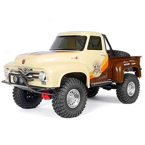 Axial SCX10 II 1955 Ford F-100 RC Rock Crawler 4WD Truck RTR with 2.4GHz Radio System (Battery and Charger Not Included): 1/10 Scale, AXI03001T1 Brown