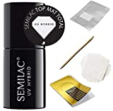 Semilac Nagellack UV LED Gel Nail Top Mat Total 7ml
