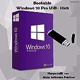 Windows 10 Pro 32 bit & 64 bit Bootable USB-Stick von Main Software Partner - Originaler Lizenzschlüssel - Deutsche Vollversion