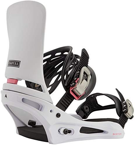 Burton Cartel Mens Snowboard Bindings Sz L (10+) Miami White