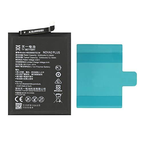 [TY BETTERY] Bateria Compatible con HB356687ECW Huawei P30 Lite/Mate 10 Lite/Honor 7X 9i/Mate 9 Lite/Nova 2 Plus/Nova 4E/Nova 2S/Mate SE