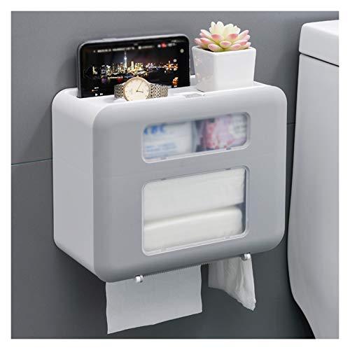 Caja Pañuelos Caja de dispensador de tejido multifuncional para el hogar Caja de tejido facial de papel de pared de doble capa con función de soporte de carga puede almacenar artículos Dispensador Pañ