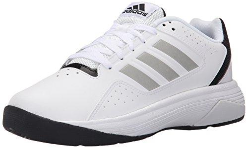 Zapato Adidas Performance Cloudfoam Ilation Baloncesto, Blanco/Plata Metalizado/Negro, 8 M US