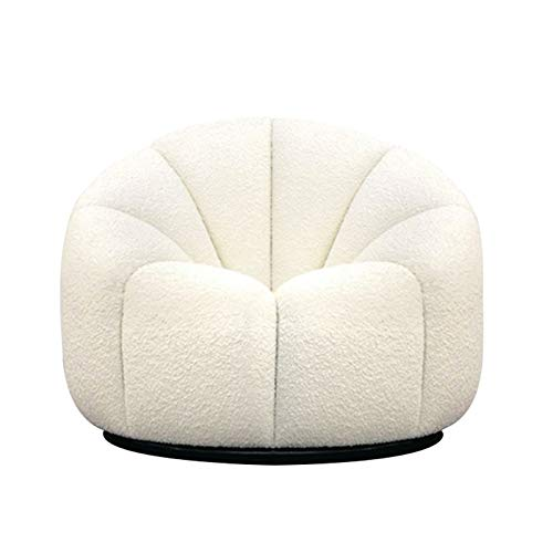 Xin Hai Yuan Modern Living Room Sofa Italian Style Designer Alpha Sofa Modern Home Simple White Lambhair Lazy Bedroom Fabric Single Sofa Chair