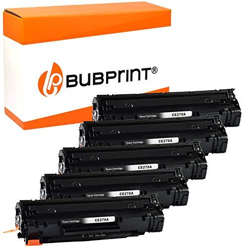 5 Bubprint Toner kompatibel für HP CE278A 78A für LaserJet Pro M1536DNF M1537DNF M1538DNF M1539DNF MFP P1566 P1600 P1606DN P1607DN P1608DN P1609DN Schwarz