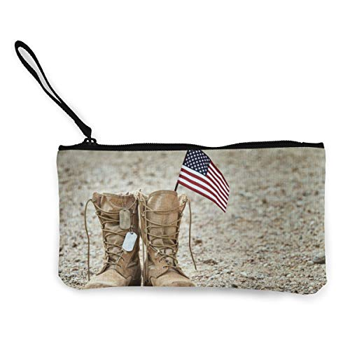 Old Military Combat Boots Canvas Wallet Exquisite Coin Purses Small Canvas...