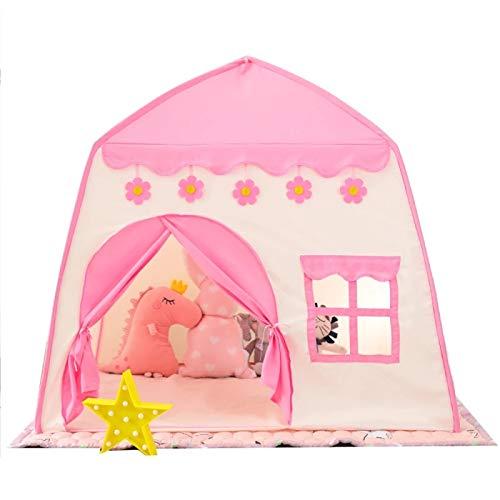 Tienda de campaña de Juguete para niños, Cama Interior de Princesa, Cama Tipi para niña, niño, bebé, muñeca Infantil, casa Plegable, Juego Wigwam para Regalo de niños