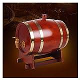 YLJYJ Wooden Wine Barrel Wooden Wine Barrel Barrel, Ice Bucket Beer Cooler Wine Barrel Cooler Clamp 20L Keg Retro Style Bar Bar Restaurant(Wine Barrel)