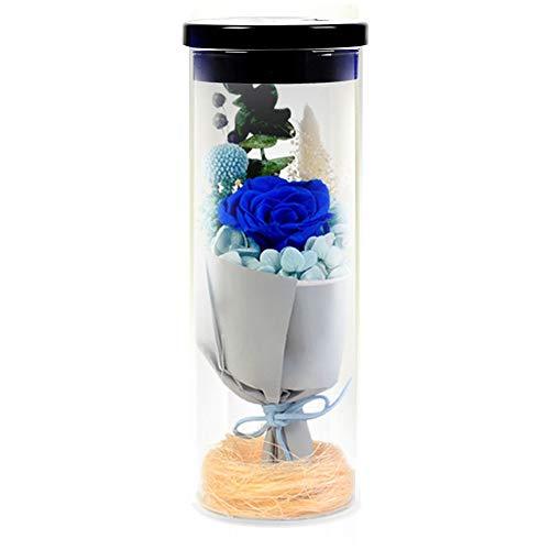 Flor para siempre Rose roja luz de la noche Deseando botella en...