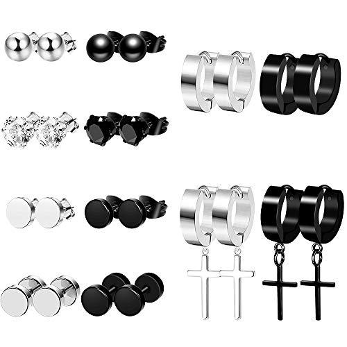 stud earrings men stainless steel - 6