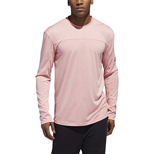adidas City Studio Long Sleeve Camisa, Melange Rosa Glory, Small para Hombre