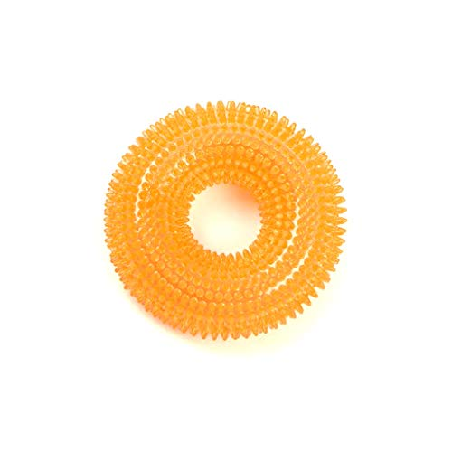 Soft Thorn Ring Pet Mol Toy Pet Training Interactive Toy (Color : Orange)