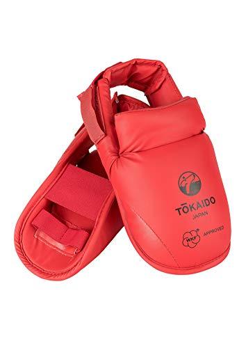 Tokaido Unisex– Erwachsene Kumite Foot Guard Karate Fußschützer, rot, S