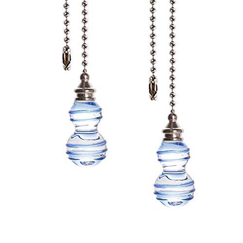 Crystal Ceiling Fan Pull Chains Hanging Pendants Prism Pack...