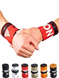 GORNATION Muñequeras Gym Wrist Wraps Venda Muñeca por Calistenia/Calisthenics, Fitness, Crossfit, Entrenamiento de Peso Corporal Hombre y Mujer (Premium Red)