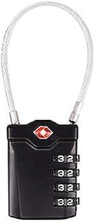 【2019最新型】TSAロック 旅行用 南京錠 4桁 ダイヤル式ロック TSAトラベルロック スーツケース 荷物のセキュリティ 1個入り ブラック