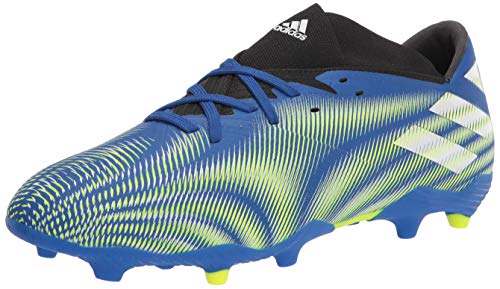 adidas Men's Nemeziz .2 Firm Ground Soccer Shoe, Team Royal Blue/White/Solar Yellow, 8.5