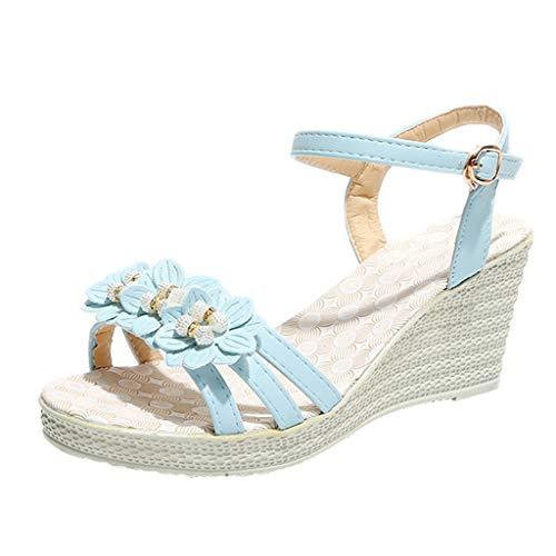 YU'TING Sandalias Mujer, Mujer Sandalias de Verano Cuñas Zapatos Día de San Valentín Zapatos de tacón Alto