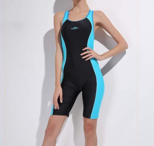 N-B Traje de baño de mujer Split Boxer Shorts Deportes Traje de Baño Conservador Cubierta de Vientre Adelgazamiento de Primavera Caliente Estudiante