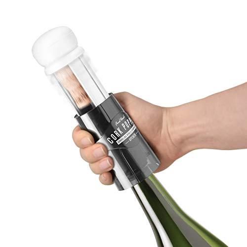 Final Touch CORK POPPER Champagne Sparkling Wine Bottle Cork Opener Vin pétillant Ouvre-bouteilles Tire-Bouchon + Guide alimentaire Pairing gratuit FTA7028