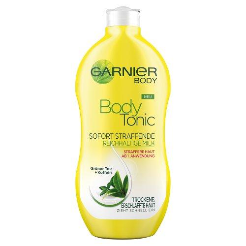 Garnier Body Tonic Sofort Straffende Reichhaltige Milk, für straffere Haut ab der 1. Anwendung, mit grünem Tee und Koffein (1 x 400 ml)