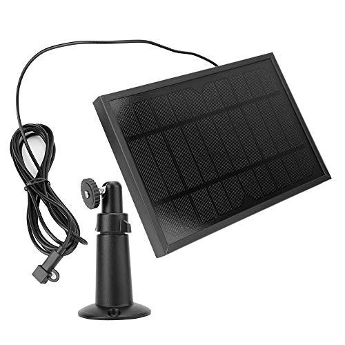 Panel de cargadores solares, Cargador de energía de panel solar de silicio monocristalino para cámara de seguridad doméstica 5W 5V / 1A