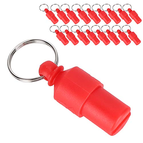 SCCX 20 piezas de etiqueta anti-perdida para mascotas perro gato ID nombre dirección etiqueta almacenamiento barril tubo collar colgante (rojo)