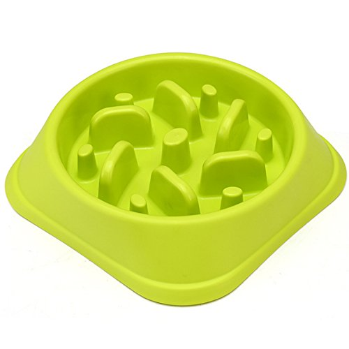 Meiwash Cane Pet Dog Slow Food Bowl Anti-soffocare Ciotola Forniture per animali Grandi e Piccoli Cani Perdere Peso Per Aiutare La Digestione Utensili Pet Lenta Mangiare Dog Bowl (Verde)