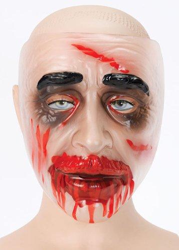 Masque de halloween horror zombie sanglant plastique