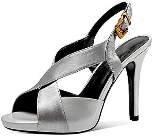 JIANXIN Sandalen Mode Mode Mode Wasserdicht Plattform High Heels Fein Mit Grün Wilden Fisch Kopf Roman Frauen Schuhe (Größe   EU 35 US 5 UK 3 JP 22.5cm)  klassischer Stil