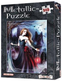 Metallic-Puzzle Silber: 555 Teile