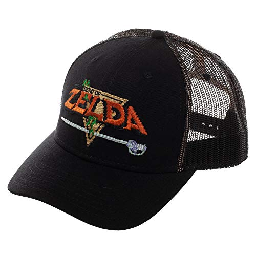Zelda Video Game Black Pre-Curved Snapback Hat Accessory