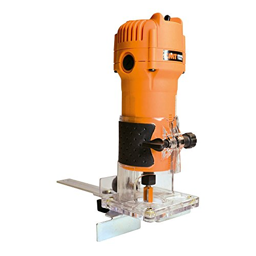 CMT CMT10 Elettrofresatrice Professionale per Bordi 550W-230V con Pinze 6/8 mm, 550 W, 230 V, Arancio/Nero, per legno