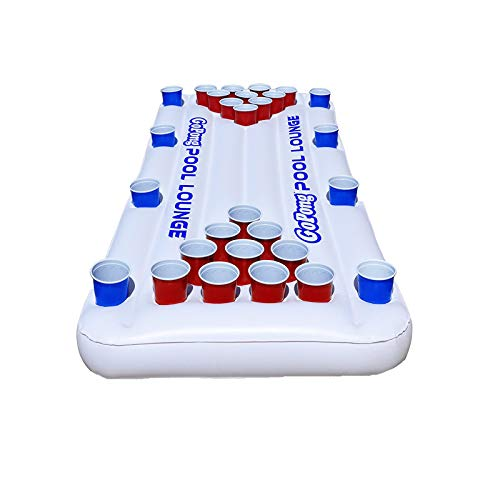 DUTUI Wasser Erwachsenen Bier Tischtennis Schwimmende Reihe Spieltisch, Tragbare Faltbare Wein Tisch, Familienfeier Party Spieltisch, 185Cmx85cm