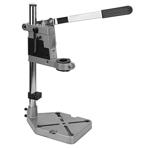 Bench Clamp Drill Press Stand Workbench Top Table Repair Tool Clamp Vertical Drill Stand Hand Press Drill Holder, Drilling Depth Up to 60mm