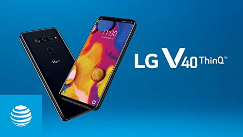 LG V40 ThinQ V405 AT&T 64GB Android 6.4in Smartphone - Aurora Black (Renewed)